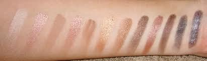 Urban Decay Naked swatches