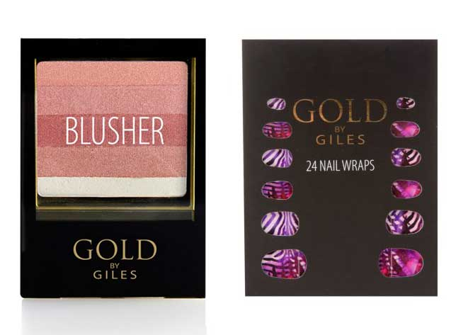 Gold Giles Blusher and Nail Wraps New Look