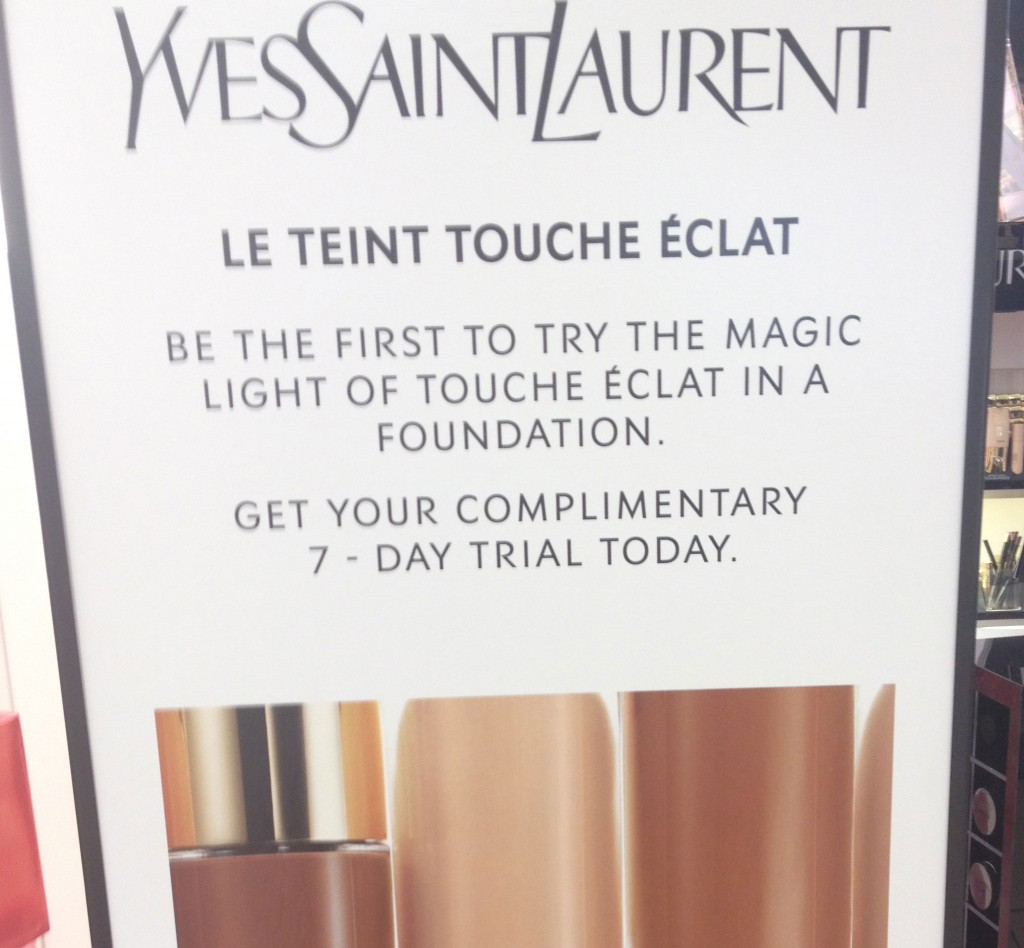 YSL le teinte touche eclat foundation sample