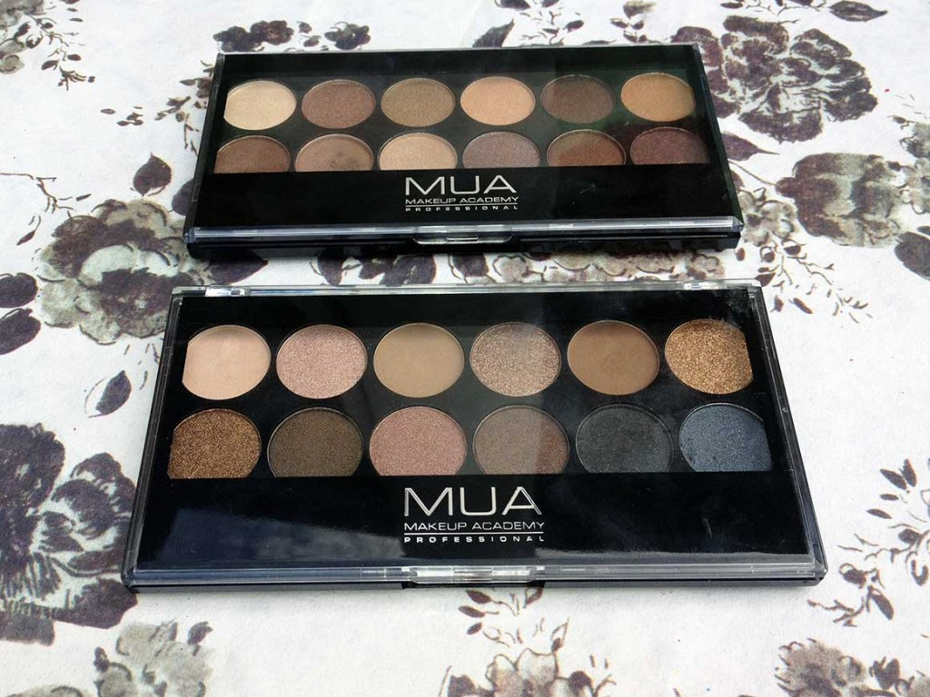 MUA Undressed and Heaven & Earth Palettes
